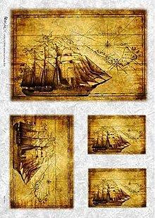 Papier - Ryžový papier č.MAP0003 - 45x32 cm, ihneď - 6135921_