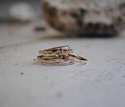 Prstene - 5x zlatý prsteň obrúčka tenká - 6137834_