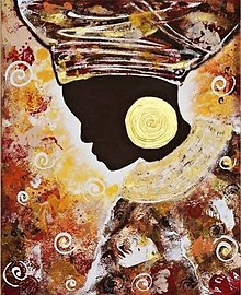 Obrazy - Afričanka - 6141607_