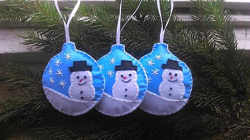 d247320600 Vianočná guľa - snehuliak   AnettSoutache - SAShE.sk - Handmade ...