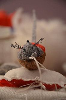 Dekorácie - Oriešok myška  - 6140721_