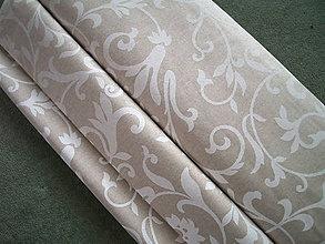 """Textil - Dekoračná látka """"veľké ornamenty"""" - 6137971_"""