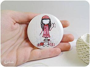 Odznaky/Brošne - Len ja a môj svet - zimný odznak - 6137735_