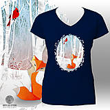 Tričká - Tmavomodré tričko Líška a Kardinál - 6138813_