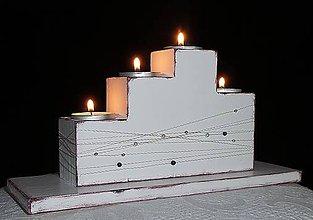 Svietidlá a sviečky - VINTAGE SVIETNIK VIANOČNÝ - 6138079_