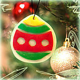 - Svietiaca vianočná dekorácia - vianočná guľa - 6141385_