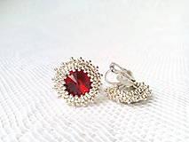 Náušnice - Wild cherries II. (Rhodium earrings / Swarovski crystal) - 6144354_