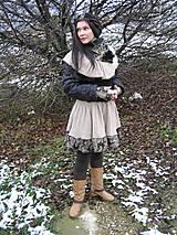 Sukne - parížske retro -sukňa, pleckohrej a rukavice - 6145148_