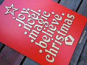 Tabuľky - tabula s vianočnými nápismi - 6142223_