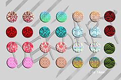 Materiál ručne robený - Motívy na šperky č. 40, akcia 4+1 na všetky motívy - 6144680_