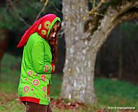 Mikiny - Dámska mikina s kapucou farbená a maľovaná MACHOVIENKA - 6143029_