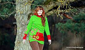 Mikiny - Dámska mikina s kapucou farbená a maľovaná MACHOVIENKA - 6143052_
