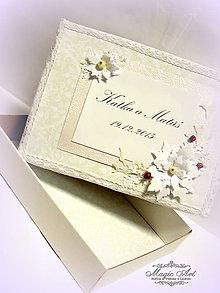 Krabičky - Krabička na knihu hostí: \