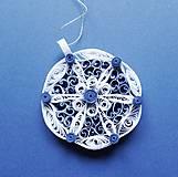 Dekorácie - vianočná ozdoba - blue - 6143073_