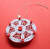 Dekorácie - vianočná ozdoba - červená - 6143112_