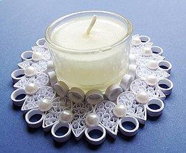 Svietidlá a sviečky - sviatočný svietnik - biely - 6143049_