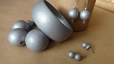 Sady šperkov - Strieborná sada 4v1 - 6146344_