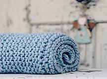 Textil - Vlněná dečka pro miminko zelenomodrá - 6144452_