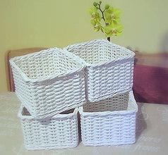 Košíky - Košík biely na želanie - 6144796_