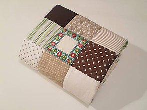 Textil - Folk patchwork detská deka - 6142762_