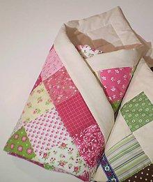 Textil - Patchwork zavinovačka malinová - 6143042_