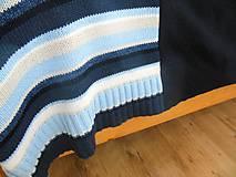 Úžitkový textil - Modrá prikrývka na dvojpostel - 6142865_