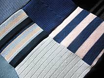 Úžitkový textil - Modrá prikrývka na dvojpostel - 6142867_