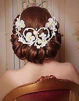 Ozdoby do vlasov - originálny svadobný venček, typ 33 - 6149252_