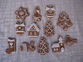 Dekorácie - vianočné medovníčky - 6149911_