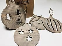 Dekorácie - Drevené vianočné gule XL - 6150077_