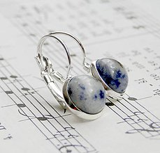 Náušnice - Sodalite & Silver - 6148852_