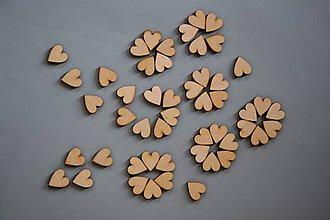 Papier - Drevené výrezy, srdce 50 ks/bal-1817 - 6146872_
