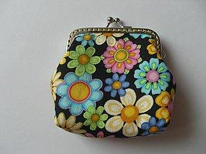 Peňaženky - Kvetinková minipeňaženka - 6148200_