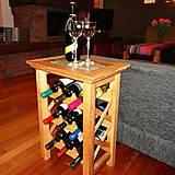 Nábytok - Vinotéka na víno. - 6147408_