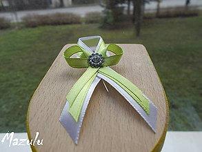 Pierka - bielo & zelené svadobné pierko(veľké) - 6149513_