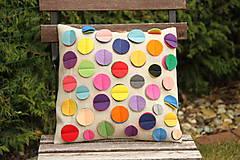 Úžitkový textil - Vankúš farebná bodka - 6147902_