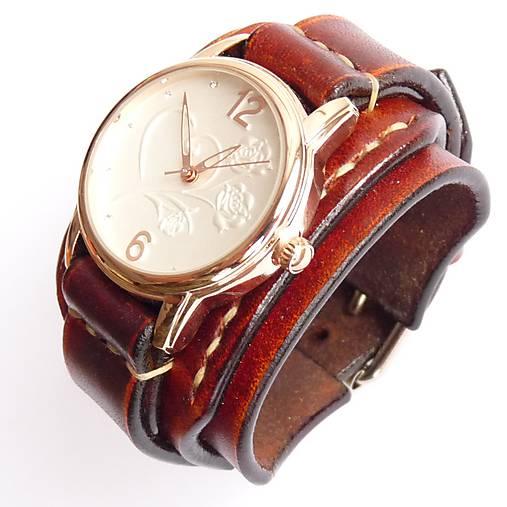 ffdbd2181 Dámske vintage hodinky hnedé / leon - SAShE.sk - Handmade Náramky