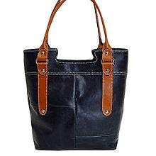 Veľké tašky - Kožená kabelka Dorota