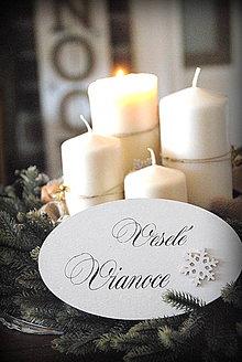 Tabuľky - Tabuľka Veselé Vianoce - 6148789_
