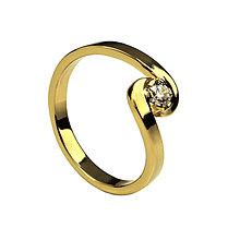 Prstene - Briliantový prsteň zo žltého zlata - 6147198_