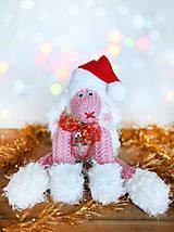 Dekorácie - Vianočná ovečka - 6150007_