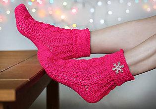Obuv - Ponožky vianočné - 6149022_