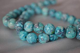 Minerály - Dažďový kameň modrý, 6mm, 0.10€/ks - 6148018_