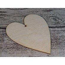 Polotovary - Drevené srdce - Arabella 20 cm - 6148421_
