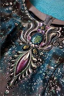 Šaty - spoločenské šaty - maľba - 6152557_