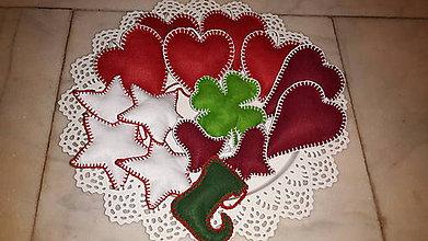 Dekorácie - Vianočné  ozdoby filcové - 6151983_
