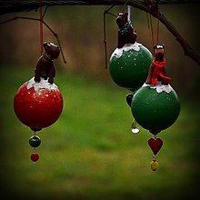Dekorácie - Vianočná guľa Aierdale teriér - závesná dekorácia - 6151720_