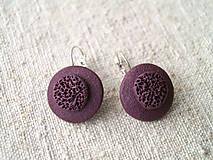 Sady šperkov - jednoduché fialové - 6152403_