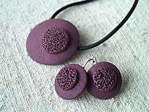 Sady šperkov - jednoduché fialové - 6152406_