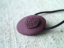 Sady šperkov - jednoduché fialové - 6152407_